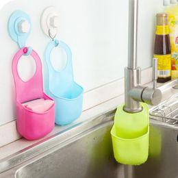 $enCountryForm.capitalKeyWord Australia - Free Shipping 1Pcs Creative Kitchen Tools Bathroom Gadgets Candy Colors Soft PVC Plastic Soap Dish Soap Handing Storage