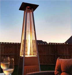 Venta al por mayor de Fábrica Venta directamente al aire libre Fácil de mover Pirámide Flexible Patio Calentador de gas