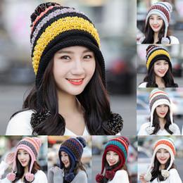62c8af4fc9c ISHOWTIENDA knit Cap Scarf Cap two-piece Winter Hats For Women Fur Winter  Beanie Fleece Hat balaclava with Neckwa rmer