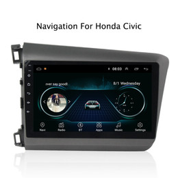 China Radio Stereo NZ - 9inch Android 8.1 Car GPS Navigation Multimedia Radio Stereo for Honda Civic 2012 2013 2014 2015 Left Hands