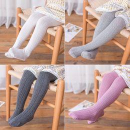 Plaid Pantyhose online shopping - Free DHL Baby Leggings Kids Girls Cotton Pantyhose Girls Tights Toddler Autumn Stockings Spring Open Crotch Pants Pantyhose Pant Sock