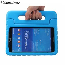 Kids thicK foam case online shopping - Foam Case Kids Safe Rugged Proof Thick Handle Stand Case For Samsung Galaxy Tab T330 Tab E T377 EVA Cover Cases