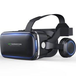 Venta al por mayor de VR original shinecon 6,0 edición estándar y auriculares versión Realidad virtual de realidad virtual 3D gafas VR auriculares cascos controla