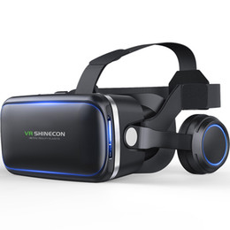 Original VR shinecon 6,0 edição e auriculares versão Realidade virtual de realidade virtual 3D gafas VR auriculares cascos control em Promoção