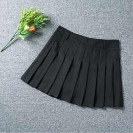 Wholesale TB Ladies Short Skirt Pleated Skirt In College Style High Waist Anti shine Versatile Black White Blue XS XL Size
