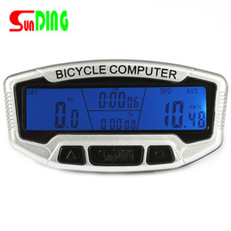 $enCountryForm.capitalKeyWord Australia - SunDing SD-558A Wired Bike Bicycle Computer Waterproof Cycling Digital Bike Odometer Stopwatch Speedometer Blue LCD Backlight #613263