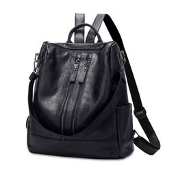 $enCountryForm.capitalKeyWord UK - Beraghini High Quality Pu Leather Backpack Fashion School Bags For Teenager Girls Casual Women Black Backpacks Y190627