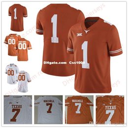 Football Numbers Australia - Custom 2017 New Texas Longhorns College Football Limited Brunt Orange white Personalized Stitched Any Name Number 7 10 Young Jerseys XS-5XL