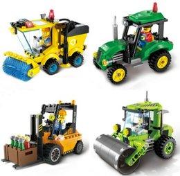 $enCountryForm.capitalKeyWord NZ - 4 Type Civilized City Sweeper Legoings Assembled Model Building Blocks Toys Kit DIY Educational Children Birthday Gifts 102pcs
