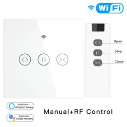 switch remote control electric NZ - Tuya Smart Life EU RF WiFi Roller Shutter Curtain Switch for Electric Motorized Blinds with Remote Control Google Home Aelxa Echo