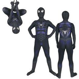 $enCountryForm.capitalKeyWord Australia - Adult Men Kids Black Symbiot Raimi Spider-Man Cosplay Costume Lycar High Quality Spiderman Superhero Zentai Party Bodysuit Jumpsuit