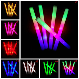christmas stage decor NZ - LED Colorful Rods Led foam stick flashing Foam Stick Concert Flash Sticks Light cheering glow Stick Novelty Festival Party Stage Decor E535