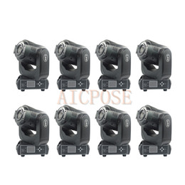 $enCountryForm.capitalKeyWord Australia - 8Pcs lots Moving Head Light 90W LED With 3 Face Prism Spot Light With Rotation Gobo Function DJ Disco Stage Light Wedding Show