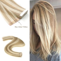 "brazilian hair 24 Canada - 14""-24""Remy Tape in Hair Extensions Brazilian 100% Real Human Hair Skin Weft ,piano color"
