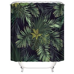 $enCountryForm.capitalKeyWord UK - Customized Waterproof Sunflower Art flowers Green leaves Plants Shower Cute Birds Curtains 3D Digital Printing Bathroom Curtains With Rings