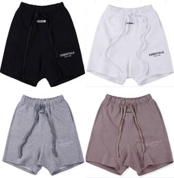 Wholesale justin bieber gold for sale – winter 2020 New JUSTIN BIEBER Fear Of God Essentials Letter Printing Shorts Jogger Drawstring Collection Man Women hip hop FOG Shorts S XL