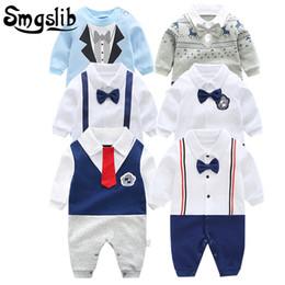 $enCountryForm.capitalKeyWord NZ - 0-12m New Born Handsome Gentleman Clothing Set Infant Bow Tie Costume Cotton Jumpsuit Baby Boy Girl Clothes Q190520