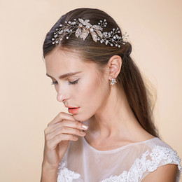 $enCountryForm.capitalKeyWord Australia - 2019 New Wedding Hair Accessories Bridal Hair Comb With Rhinestones Golden Leaves Women Hair Jewelry Party Headpieces BW-HP515
