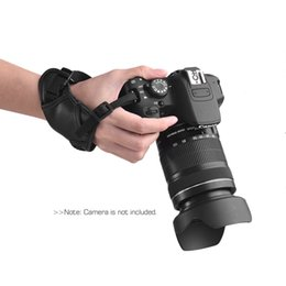 leather camera grip UK - Strap Leather Camera Padded Wrist Grip Strap Camera Accessories for Nikon  Canon  Sony  Olympus Pentax  Fujifilm  DSLR