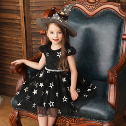 $enCountryForm.capitalKeyWord Australia - New model Halloween costume kids costumes Cosplay girls princess dress witch skirt witch performance costumes with caps