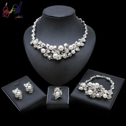 $enCountryForm.capitalKeyWord Australia - Yulaili 2019 Silver Imitation Pearls Necklace Jewelry Elegant and Graceful Jewelry For Women Party Gifts Wedding Jewelry Sets