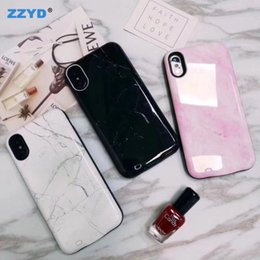 Power bank mobile Phone charger online shopping - ZZYD Marble Design Mah External Power Bank Charger Case Mobile Phone Backup Battery Case For iP plus X XR XS MAX