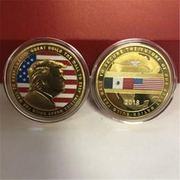 $enCountryForm.capitalKeyWord Australia - Donald Trump Gold Eagle Coin Commemorative Coin Build Wall to Keep America Great USA 45th President Metal Badge Token Craft