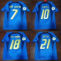 c3792f54 ItalIa shIrts online shopping - 2006 Italy Gattuso Retro Soccer Jersey  Cannavaro Francesco Totti Del Piero