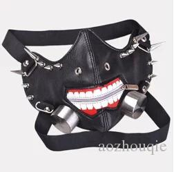 $enCountryForm.capitalKeyWord NZ - Anime Tokyo Ghoul Kaneki Ken Cool Mask Cosplay Adjustable w zipper PU Leather Party Prop DIY Mask