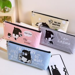big storage boxes Australia - Cute School Large Cases Supplies Big Zipper Pouches Pencil Case Box For Girls Kawaii Pouch Pencilcase Bag Kids Storage Vintage