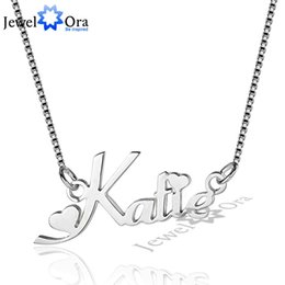 $enCountryForm.capitalKeyWord Australia - Russia Name Necklace Personalized Engrave 3 Color 925 Sterling Silver Pendant Necklace Gift For Girlfriend (jewelora Ne101622) J190712