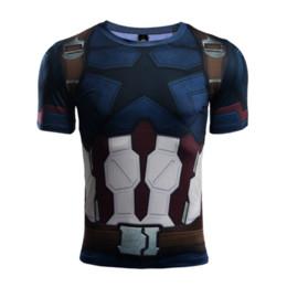 captain america woman costume 2019 - Newest Fashion Avengers 3 Captain America Men Women 3D Printing Summer T-Shirt Unisxe Funny Short Sleeved Tops Costume 3