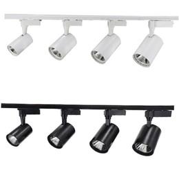 Ingrosso COB 12W 20W 30W 40W LED traccia leggera di alluminio a soffitto Rail Track illuminazione spot di binari Diffusore Sostituire Lampade alogene AC85-265
