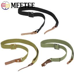 Cotton Webbing Belts Australia - Meetee Adjustable Cotton Webbing Belt for Outdoor D Ring Leather Hook Strap for Outdoor Camera Handbag Hanging Accessories BF253
