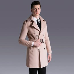 $enCountryForm.capitalKeyWord Australia - OLN Wool Mens Coats Plus Size 6xl Luxury Double Breasted Solid Cashmere Men Trench Autumn And Winter Long Style Man Jacket