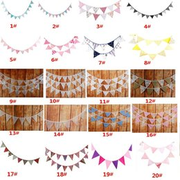 $enCountryForm.capitalKeyWord Australia - 12pcs Banner Flags 2.8-3.2m Lace Pennant Bunting Banner Triangle Shape Hanging Party Wedding Christmas Decor Banners String Flags XD19948