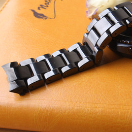 stainless steel deployment clasp buckle UK - High quality Watchbands black ceramic with Stainless steel buckle deployment accesssories fit Samsung watch 22mm curved ends special new