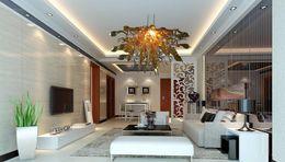 $enCountryForm.capitalKeyWord Australia - Modern Crystal LED Italy Designed Hand Blown Glass Chandelier Light Murano Glass Art Glass Chandelier for Home Decor