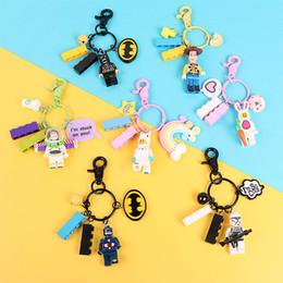 $enCountryForm.capitalKeyWord Australia - Keyring Keyring Figures Doll Keychain Building Block Key Ring Pendant for Girl Or Men Car