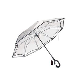 $enCountryForm.capitalKeyWord Australia - Inverted Folding Reverse Umbrella Double Layer Unbrella Cloth Umbrellas For Women Transparent Unbrellas Windproof Rainproof T8190619