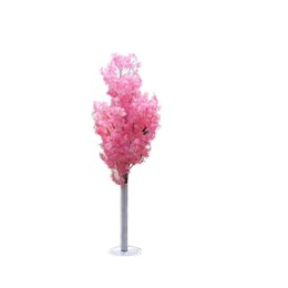 Stand Led Light NZ - New Arrival Cherry Blossoms Tree Road Leads Wedding Runner Aisle Column Shopping Malls Opened Door Decoration Stands