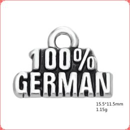 $enCountryForm.capitalKeyWord UK - 30pcs Antique vintage tibetan silver word 100% GERMAN charms metal dangle alloy pendants for necklace bracelet earring diy jewelry making