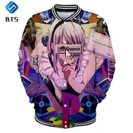 Chinese  Vaporwave new 3D print 2019 high quality Vaporwave Baseball uniform Men Women Casual kpop Harajuku comfortable Baseball Jackets manufacturers