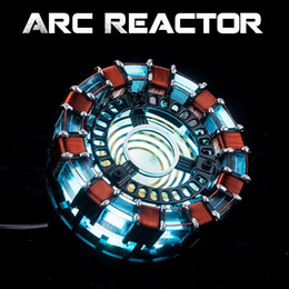 english cotton NZ - Free Fast Shipping 1:1 Scale Arc Reactor Need To Assemble Reactor Diameter Of 8cm With Led Light Action With English Manual Mk1 J190722