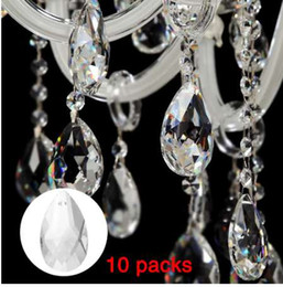 prism glasses Australia - 10Pcs Pack 22mm Crystal Ball Prism Faceted Glass Chandelier Crystal Parts Hanging Pendant Lighting