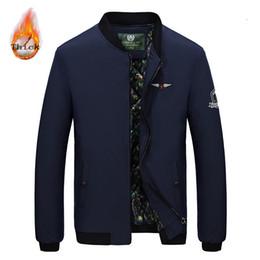Suit Outerwear Male Australia - Warm Jacket Men Casual 2019 New Mens Jackets Coats Male Slim Windbreaker Outerwear Coat Bomber Jackets For Men Flight Suit
