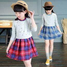 eeed59c15e27 Casual Plaid Girl Dress Korean Children Clothing Child Clothes Spring  Autumn 4-14Y Girls Dresses Vestidos Kids Girls School Wear