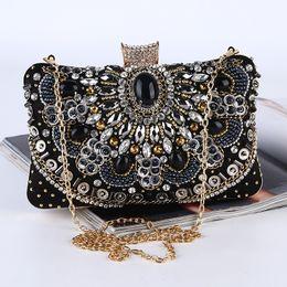 $enCountryForm.capitalKeyWord Australia - gemstone evening bag with diamond quality quality heavy work handmade evening bag Rhinestone clutch bag Women Party handbag