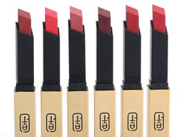 $enCountryForm.capitalKeyWord Australia - 2019 New Golden tube small gold bar matte 6 color lipstick lipstick square tube slender net red live sound sound explosion.