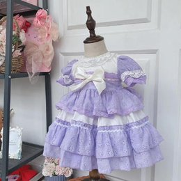 easter clothes for babies Australia - 2PCS Baby Girl Clothes Summer New Lace Stitching Vintage Spanish lolita Princess Ball Gown Dress for Girl Birthday Easter Y3029